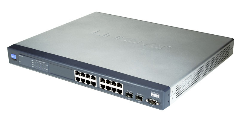 Cisco SRW2016, 16 port Gigabit Switch   WebView
