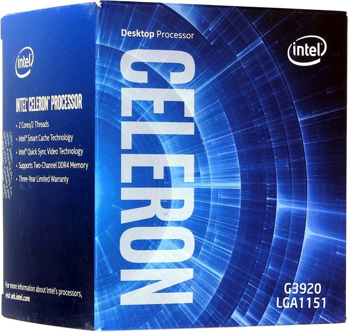 Intel Celeron Processor G3920  (2M Cache, 2.90 GHz)