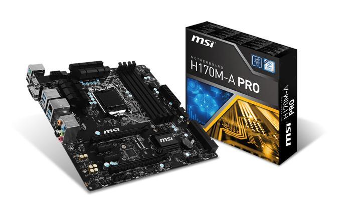 Mainboard MSI H170M-A PRO Socket 1151 (H170M-A PRO)