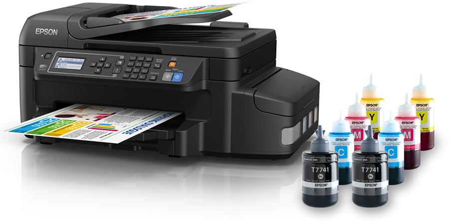 Máy in Epson L655, In, Scan, Copy, Fax, tiếp mực ngoài chính hãng, kết nối Wifi