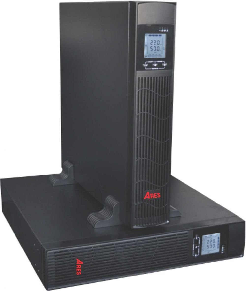 UPS 1KVA Ares AR901IIRT (900w) Online Rack/Tower