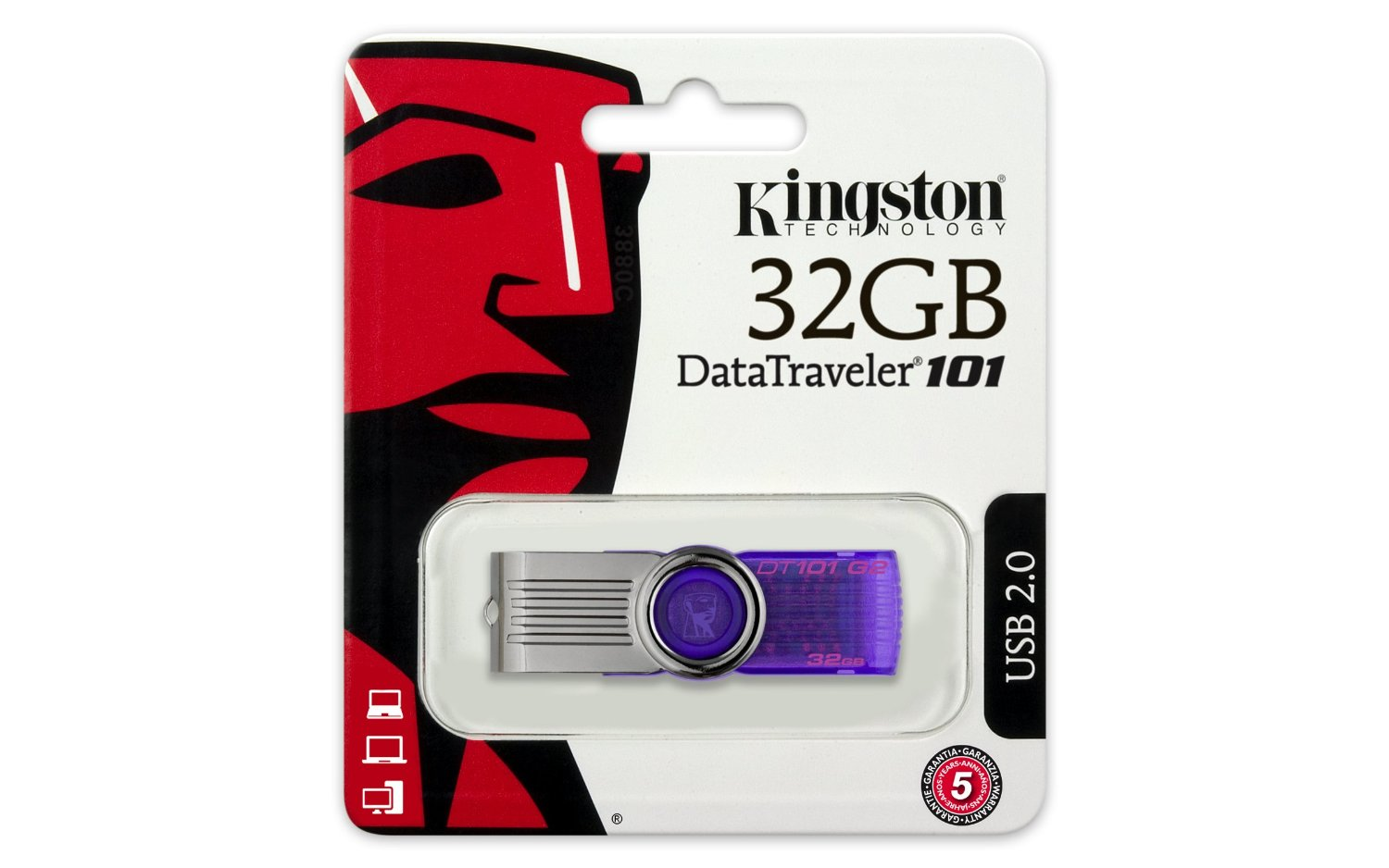USB 32GB Kington DataTraveler 101 Generation 2 (DT101G2/32GB)